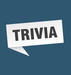 Trivia speech bubble trivia ribbon sign trivia vector