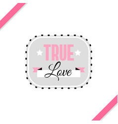 True love greeting card vector