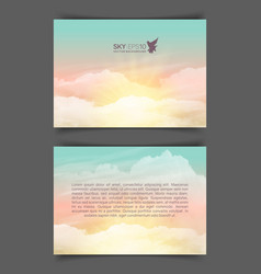 two-sided horizontal flyer a4 format vector image