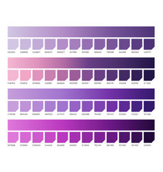 Ultra violet pantone color swatches colors vector
