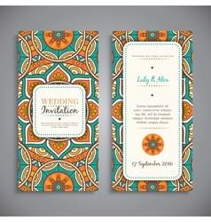 Wedding card or invitation vintage decorative vector