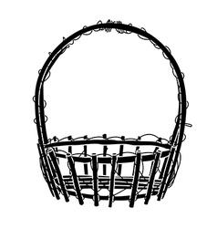 Wicker Basket silhouette vector image