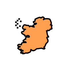 world map ireland flat color icon icon banner vector image