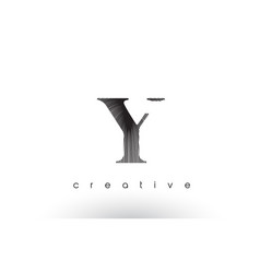 y logo design with multiple lines and black and vector image