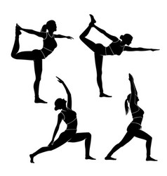 yoga or exercise silhouette vector image