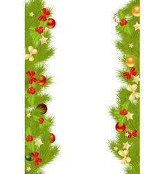 christmas card borders vector image vector image