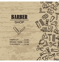 Composition of the set icons for the Barber shop vector image vector image