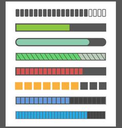 loading bar progress vector image vector image