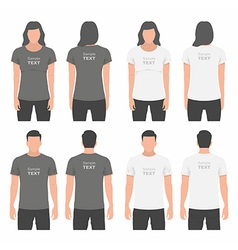 Men and women t-shirt design template vector
