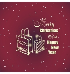 New Year And Xmas Badge 2 vector image vector image