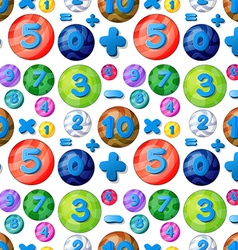 Seamless numbers in round bubbles vector image vector image