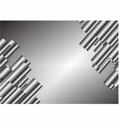 Silver abstract background with copy space vector