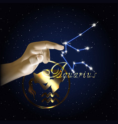aquarius astrology constellation of the zodiac vector image