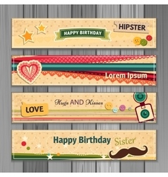Banner happy birthday vector image