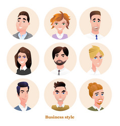 business people avatars set vector image vector image