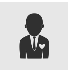 Businessman love job icon vector image