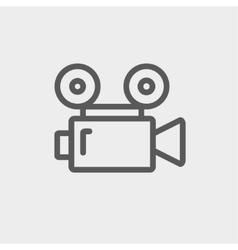 Cinematography thin line icon vector