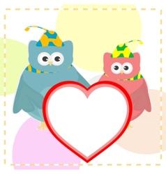 cute love owl vector image vector image