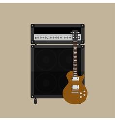 Guitar amplifier guitar 2 vector image vector image