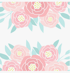hand drawn abstract peony flowers vector image vector image