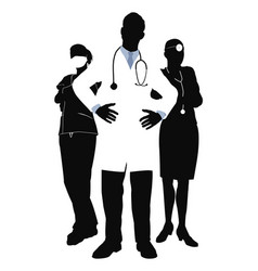 medical team vector image vector image