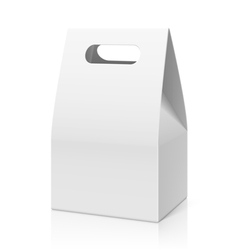 White blank hand paper bag vector image vector image