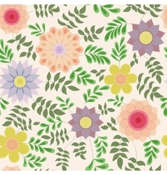 Floral pattern with leaves vintage vector image vector image