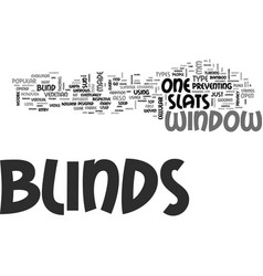 Window blinds different kind of blinds text word vector