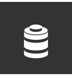 Battery icon isolated on a black background vector image