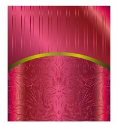 Bordeaux Floral Luxury Background vector image vector image