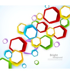 Colorful background with hexagons vector image vector image