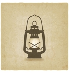 oil lantern old background vector image vector image