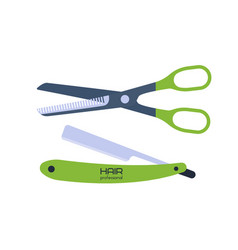 scissor on white background vector image