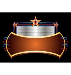 shiny banner with stars vector image vector image