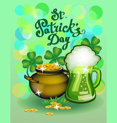 st patrick s day greeting vector image