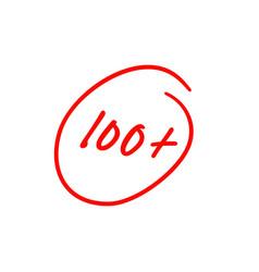 100 plus best exam score vector