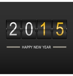2015 happy new year on mechanical timetable vector image