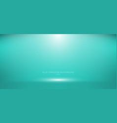3d empty blue turquoise studio room background vector