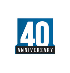 40th anniversary icon birthday logo vector