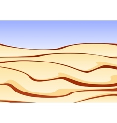 A sand desert with clear blue sky vector