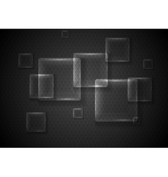 Abstract transparent glass squares vector