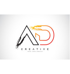 Ad creative modern logo design with orange and vector