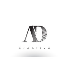 ad logo design with multiple lines and black and vector image