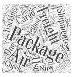 Air freight tracking Word Cloud Concept vector