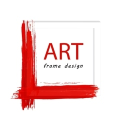 Art painted frame vector