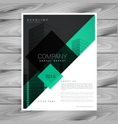 Awesome brochure design in green black colors vector