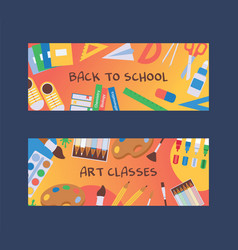 backpack items back to school vector image