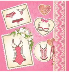 Beautiful lingerie vector