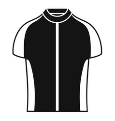 Bike shirt icon simple style vector