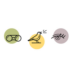 bird watching icon vector image